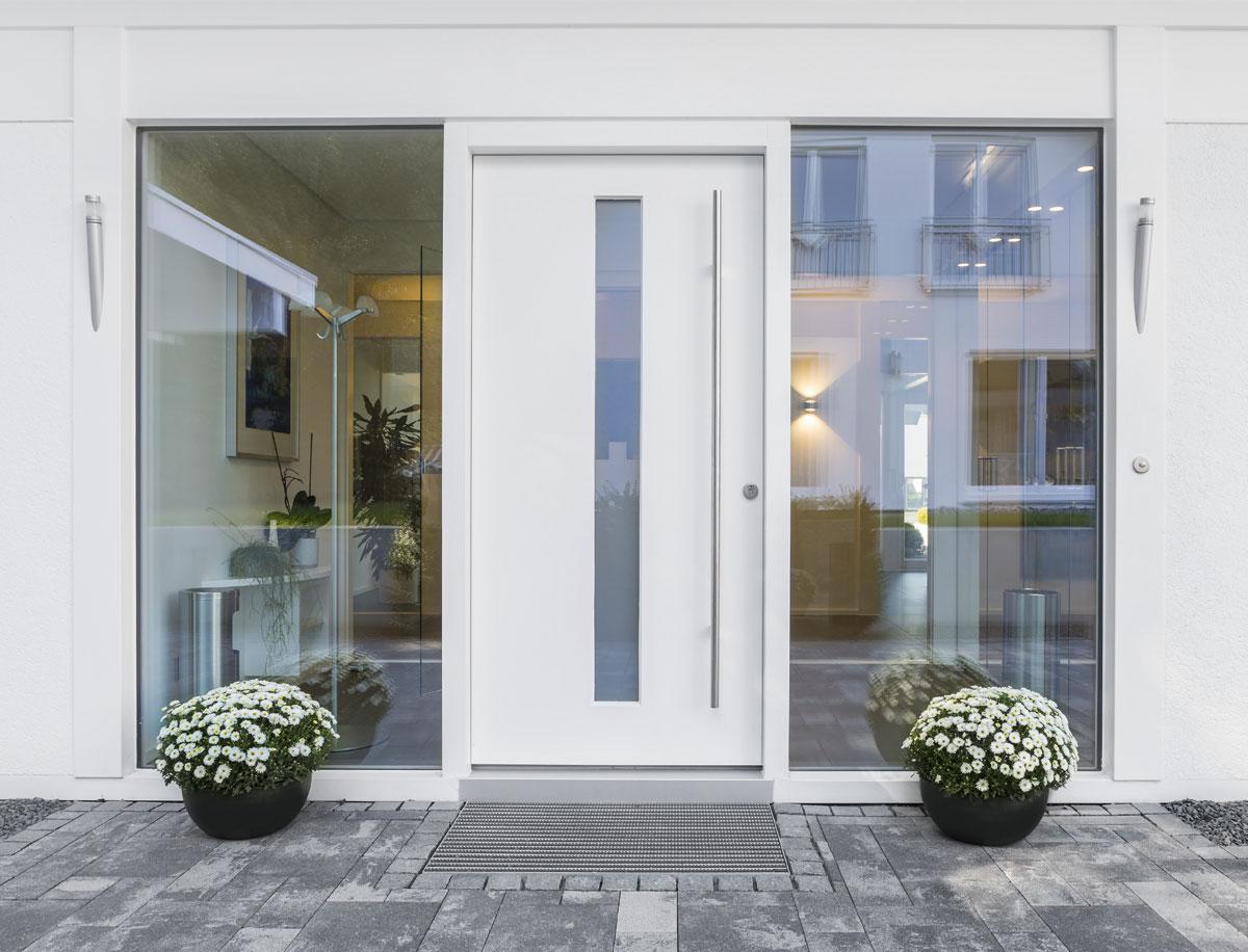 Porte blindate con vetro prezzi e caratteristiche ariete porte blindate - Porta finestra blindata ...