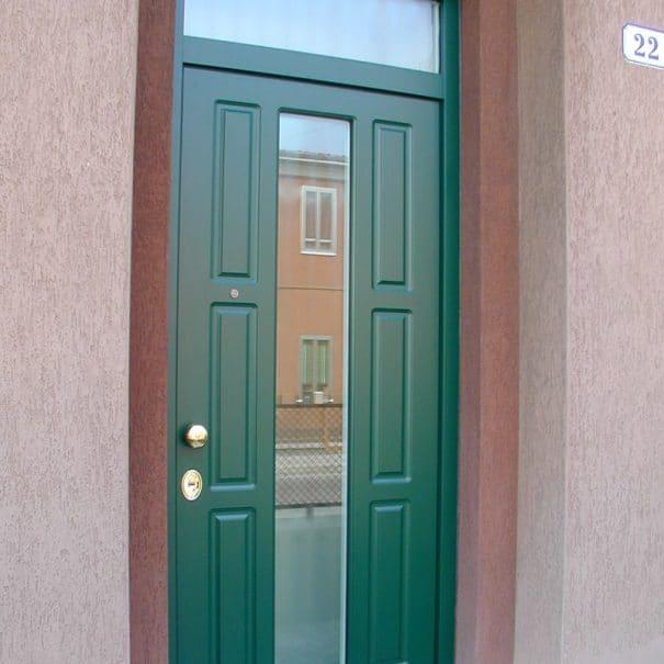 porta blindata con sopraluce