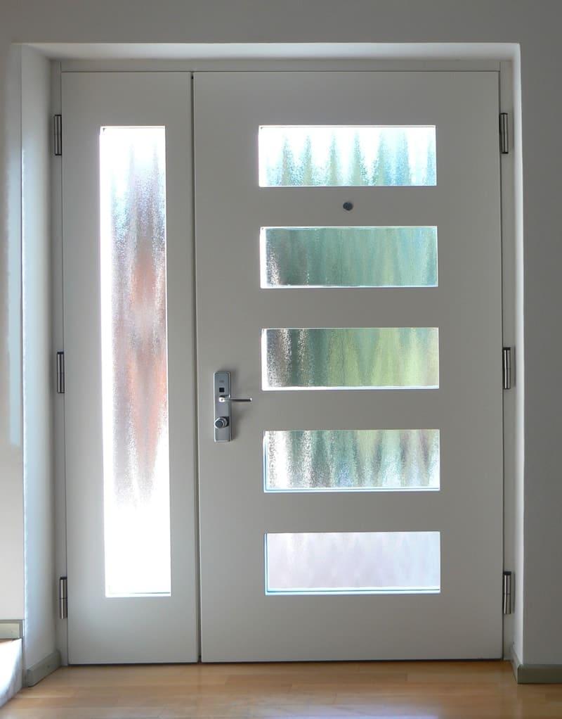 porta blindata da esterno con vetro