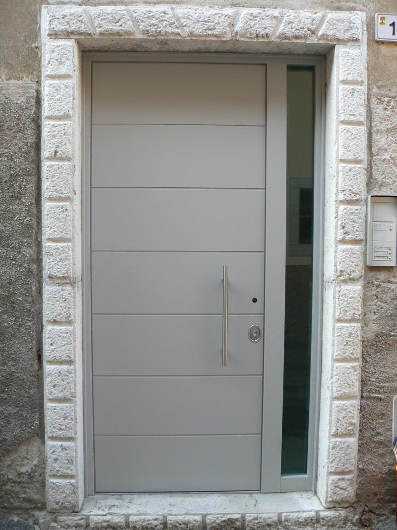 porta blindata vetrata