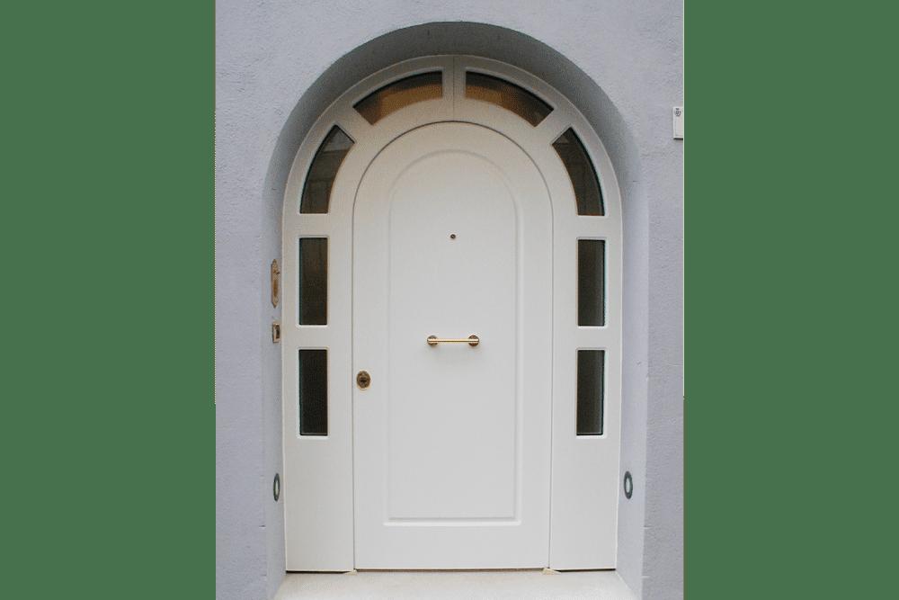 Porta blindata con vetro moderne
